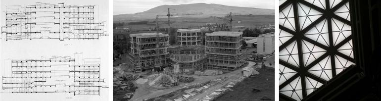 El Hexágono en construcción - 1965